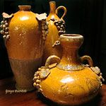 beautiful pottery . . .love the mustard yellow color.  |Pinned from PinTo for iPad|