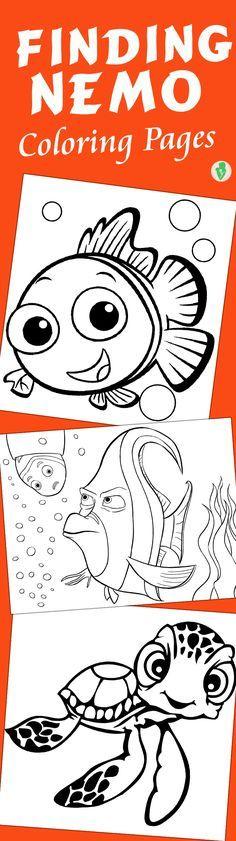 10 Cute Finding Nemo Coloring Pages // 10 páginas para colorear de Buscando a Nemo