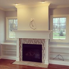 Recently-completed hearth room in Country Club Estates.