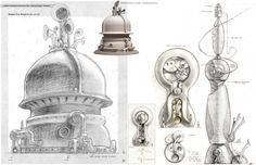 Living Lines Library: Robots - Visual Development Environment Props Blue Sky Studios, Robot Illustration, Black And White Sketches, Robot Concept Art, Conceptual Design, Visual Development, Dieselpunk, Art Studios, Art Blog