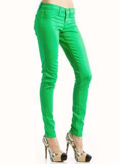 colored skinny pants $39.00