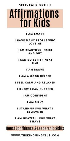 Positive Affirmations For Kids, Positive Self Talk, Daily Affirmations, Gentle Parenting, Parenting Advice, Kids And Parenting, Mindful Parenting, Peaceful Parenting, Teaching Kids