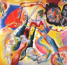 Wassily Kandinsky, Painting with red spot on ArtStack #wassily-kandinsky-vasilii-vasil-ievich-kandinskii #art