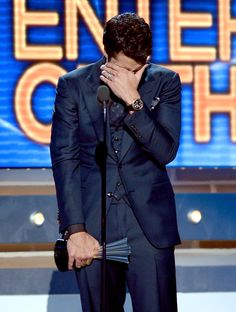 Luke Bryan after he won Entertainer of the Year at the 2013 ACM's - This was so sweet! He is amazing!