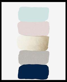Ideas for bedroom design pink grey color inspiration Bedroom Colour Palette, Blue Colour Palette, Bedroom Color Schemes, Bedroom Colors, Bedroom Ideas, Apartment Color Schemes, Gold Color Palettes, Gold Color Scheme, Pink Color Schemes