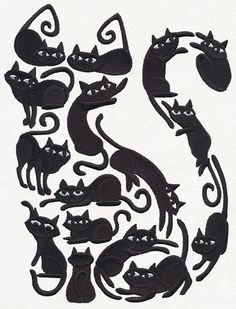 Cat o' Cats | Urban Threads: Unique and Awesome Embroidery Designs