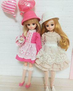 おはようございます    どんよりした天気だけどリカちゃんはピンクで気分あげてくれます    イメージしてたワンピースと違うのが完成 #リカちゃん#licca#ハンドメイド#handmade#ファッション#fashion#ドール#doll#ピンク#Pink#バルーン#風船