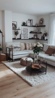 Home Office Inspiration, Living Room Decor Inspiration, Living Room Ideas, Boho Living Room, Home And Living, My New Room, Apartment Living, Home Interior Design, Living Room Designs
