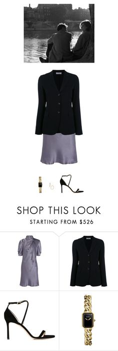 """Untitled #364"" by inlateautumn ❤ liked on Polyvore featuring Philosophy di Alberta Ferretti, Alberto Biani, Jimmy Choo, Chanel and Bony Levy"