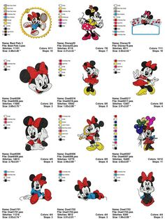 These will work better - Adorable Minnie Mouse Cutest Embroidery by onlineembroidery, $5.75