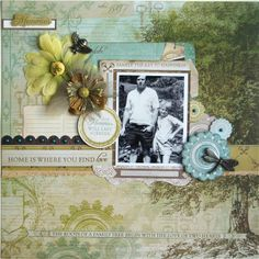 Kaisercraft - Heirloom - Hetty Hall Heritage Scrapbook Pages, Scrapbook Blog, Scrapbooking Layouts, Wooden Letters, Note Cards, Projects To Try, Paper Crafts, Scrapbooks, Genealogy