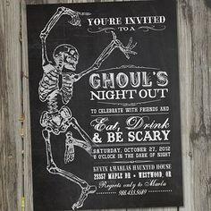 Skeleton Dance Vintage Retro Halloween Printable by partymonkey, $15.00