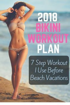 The workout plan I use to get in shape before summer and beach vacations. #vacation #bikinimodel #beach #beachlife #surfingworkout
