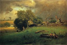 George Inness 'The Storm' 1885, oil on canvas by Plum leaves, via Flickr