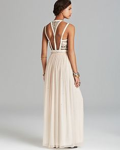 Free People Maxi Dress Golden Chalice in Black (Seashell) | formal ...