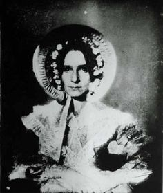 You're looking at Dorothy Catherine Draper, sister of NYU professor John Draper and model for the first daguerreotype portrait of a woman in the United States in 1839. She was the first woman to be photographed with her eyes open!
