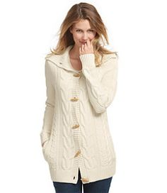 #LLBean: Bailey Island Sweater, Button-Front Cardigan