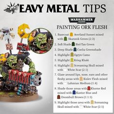 asked us if we could get the 'Eavy Metal team to share their secrets of painting Ork Flesh for Warhammer… Painting Tips, Figure Painting, Painting Techniques, Blood Bowl, Warhammer Paint, Warhammer 40000, Warhammer Figures, Heavy Metal, Minis