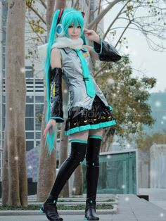 Vocaloid Super alloy Hatsune Miku Anime Cosplay Costume - Cosplayshow.com by Milanoo ↩☾それはすぐに私は行くべきである。 ∑(O_O;) ☕ upload is galaxy note3/2016.03.13 with ☯''地獄のテロリスト''☯ (о゚д゚о)♂