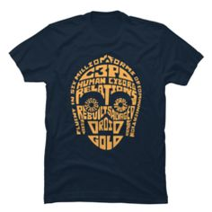 The Star Wars Human Cyborg Relations Navy Blue T-Shirt is fluent in six million forms of awesome. This unique Star Wars shirt features head made up of words that describe this famous golden protocol droid. Stormtrooper T Shirt, Han Solo And Chewbacca, Star Wars Han Solo, Human Cyborg, Geek Chic Fashion, Star Wars Halloween, Navy Blue T Shirt, Star Wars Outfits, T Shirts