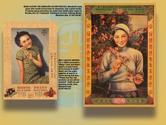Vintage Chinese art posters
