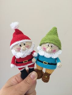 Crochet pattern for gnome and Santa