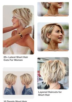 Short Fine Hair, Short Hairstyles Fine, Cute Short Haircuts, New Haircuts, Short Hair Cuts, Cool Hairstyles, Shag Bob, Short Shag, Julianne Hough Short Hair