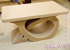 table made from cardboard Cardboard Recycling, Cardboard Cartons, Cardboard Storage, Cardboard Paper, Cardboard Crafts, Art Deco Furniture, My Furniture, Barbie Furniture, Upcycled Furniture