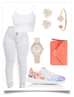"""Untitled #128"" by alexia2018 ❤ liked on Polyvore featuring NIKE, Topshop, Cara and Michael Kors"