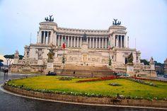 The Il Vittoriano Monument, even more beautiful in person. :)