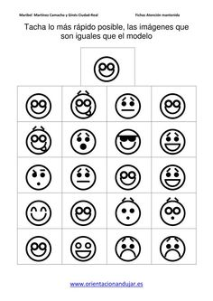ATENCION MANTENIDA TACHA LAS caras igual al modelo imagenes_04 Teacher Worksheets, Preschool Worksheets, Preschool Activities, Number Writing Practice, Writing Numbers, Teaching Math, Teaching Resources, Preschool Journals, Visual Perception Activities