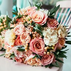 A popular choice for our DIY brides, this Wedding Flower Combo Pack features 100 Ecuadorian Roses, 150 Carnations, 10 bunches of filler flower, 5 bunches of Hea Wedding Flower Guide, Diy Wedding Bouquet, Fall Wedding Flowers, Wedding Flower Arrangements, Floral Wedding, Carnation Wedding Bouquet, Green Wedding, Wedding Ideas, Wedding Table