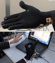Truffol.com | Sign language to text (glove). #innovation #tech #gadgets