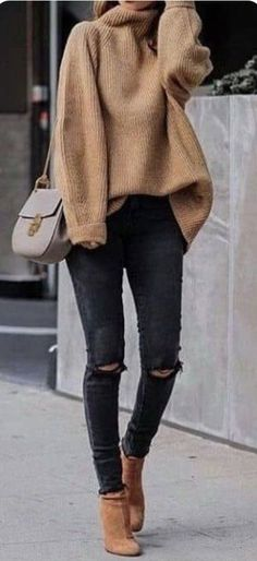45 Perfecte winteroutfits voor inspiratie / 005 - Pullover - 45 Perfect winter outfits for inspiration / 005 - Pullover - outfits ideas Look Fashion, Autumn Fashion, Womens Fashion, Fashion Ideas, Winter Fashion Women, Fashion Trends, Fashion Clothes, Latest Fashion, Tween Fashion