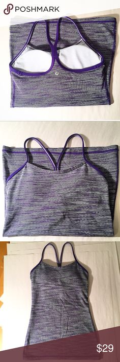 Lululemon Athletica racerback workout top Built-in shelf bra for extra support ! Used- in near-perfect condition! Size S (4). lululemon athletica Tops