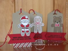 The Cookie Cutter Christmas stamp set and coordinating Cookie Cutter Builder Punch is so popular! And it's no wonder when you can easily create these super-cute Christmas tags. www.creativestamping.co.nz   Stampin' Up!   2016 Holiday Catalogue