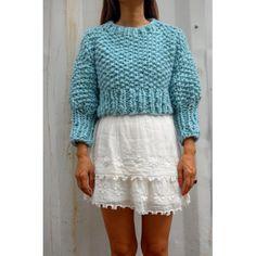 Cropped Sweater - DIY krótki sweterek z merynosów
