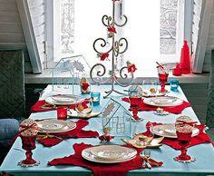 Christmas table decoration photo.