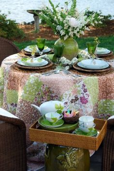quilted tablecloth