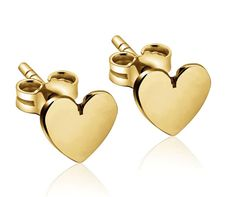 The classic, tiny heart stud earrings manage to be sweet, but not too sweet.  handmade with love  {PRODUCT INFO}  Measures: Approximately 4mm  Select