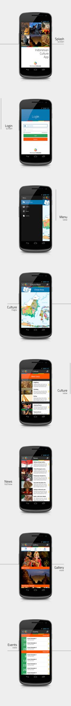 Indonesian Culture App by sandy mondz, via Behance