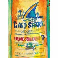 Rifkin - ACEO - Land Shark Lager - BEER - Print from Original Watercolors