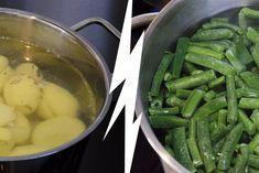 Makkelijke ovenschotel met sperziebonen, gehakt en aardappelpuree - Zaligrecept.nl Pickles, Cucumber, Food, Essen, Meals, Pickle, Yemek, Zucchini, Eten