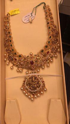 Mango Mala Jewellery, Gold Temple Jewellery, Gold Jewellery Design, Bead Jewellery, Bridal Jewellery, Ruby Jewelry, Gold Jewelry, Jewelery, Gold Jhumka Earrings