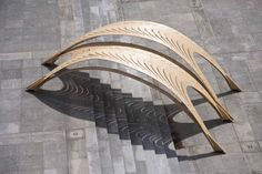 *NOTLABSThe newest Pavilion from EmTech (AA) + ETH is a light timber sun shade for the grand stairs in front of the architecture department of the ETH.