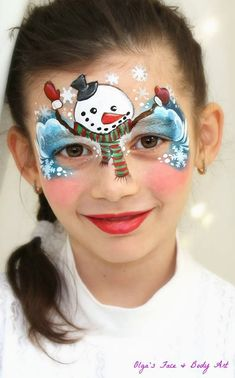 Easy Snowman Christmas face painting design ⛄️, suitable for beginners. Both boys and girls will love it!  Cute and pretty, this  makeup for kids Snowman is fun to watch and learn from.    DO YOU WANT TO PAINT LIKE ME ⁉️ Check out the International Face Painting School — Ultimate online face painting course to get Pro skills without confusion. https://facebodyart.com/?utm_content=bufferfe7b7&utm_medium=social&utm_source=pinterest.com&utm_campaign=buffer