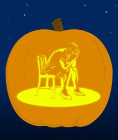 18 Insanely Clever Pop Culture Stencils To Up Your Pumpkin Carving Game Pumpkin Carving Games, Halloween Pumpkins, Halloween Ideas, Hallows Eve, Tardis, Tweety, Pop Culture, Bill Murray, Stencils