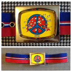1970's, Peter Max, poster art, belt, Adult size Small