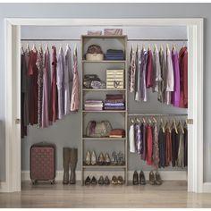 "ClosetMaid SuiteSymphony 84"" W - 120"" W Closet System Finish: Natural Gray"