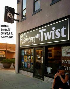 Painting With A Twist - Denton, TX just off the square at 208 W. Oak Street - see my masterpiece!!! #artforfun #ladiesnightout #funthingstodoindentontexas #staycation